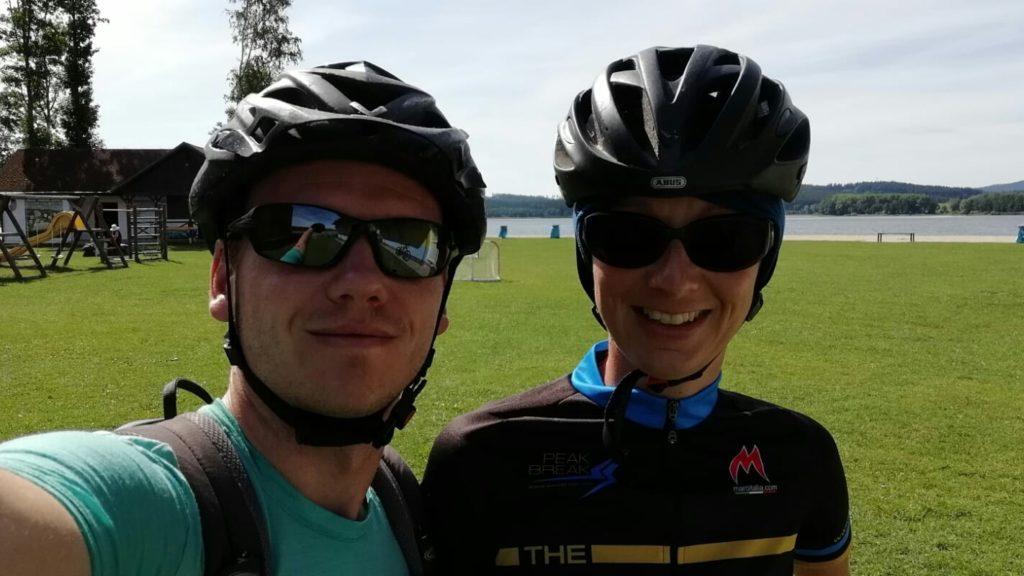 Start der zweiten Etappe der Radreise heute mit Begleitung