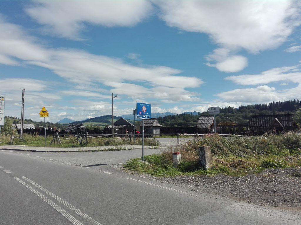 Grenzübergang Slowakei - Polen, die Alm Łysa Polana während der Radreise nach Polen