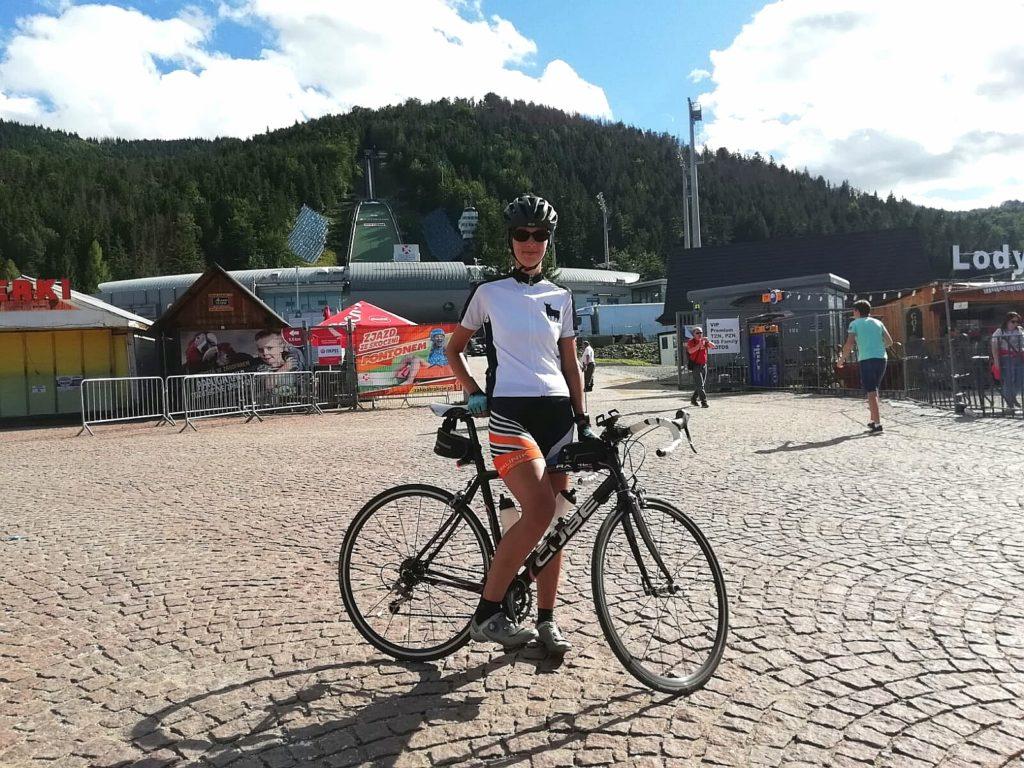 Zielankunft der Radreise nach Polen in Zakopane an der Skisprungschanze