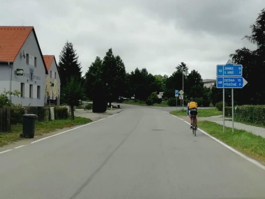 Start der dritten Etappe der Fahrradreise nach Polen
